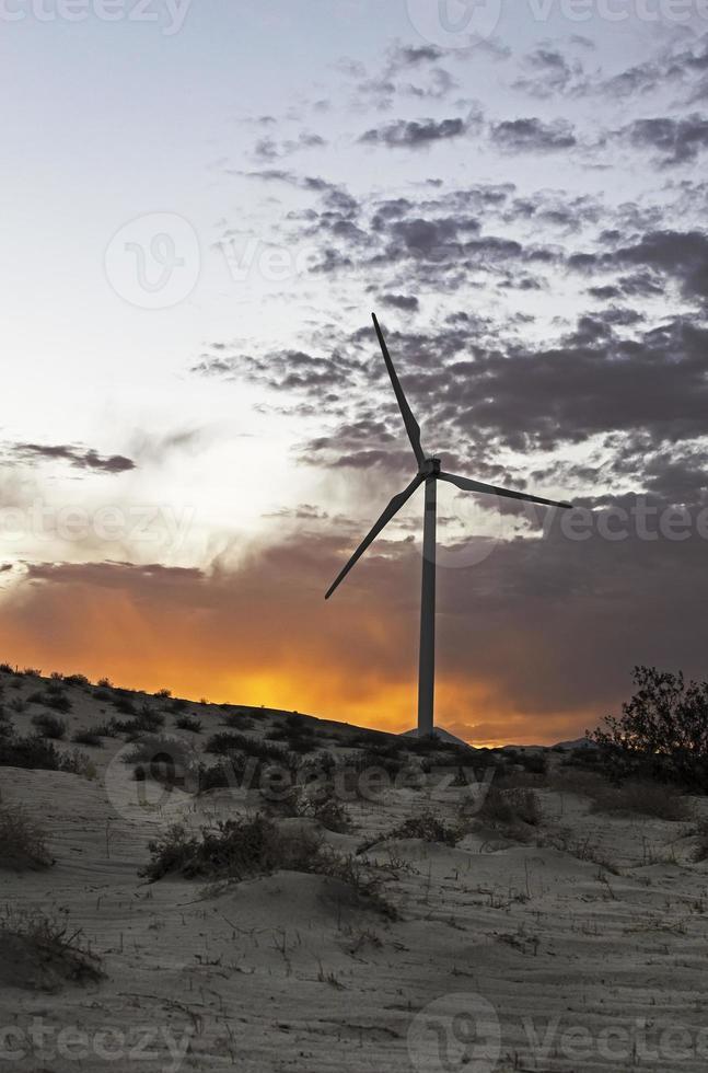 moinho de vento de geração de energia foto