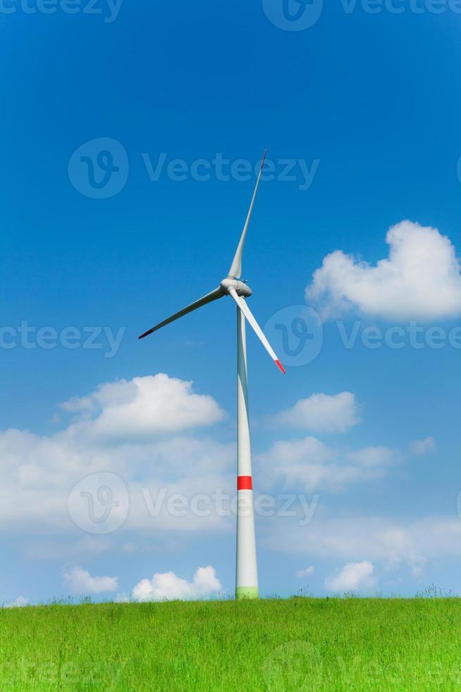 uma turbina eólica foto