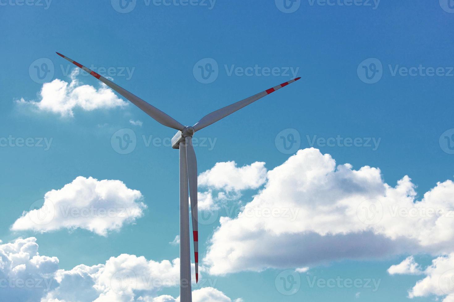 produção de energia renovável de gerador de energia de turbina eólica foto
