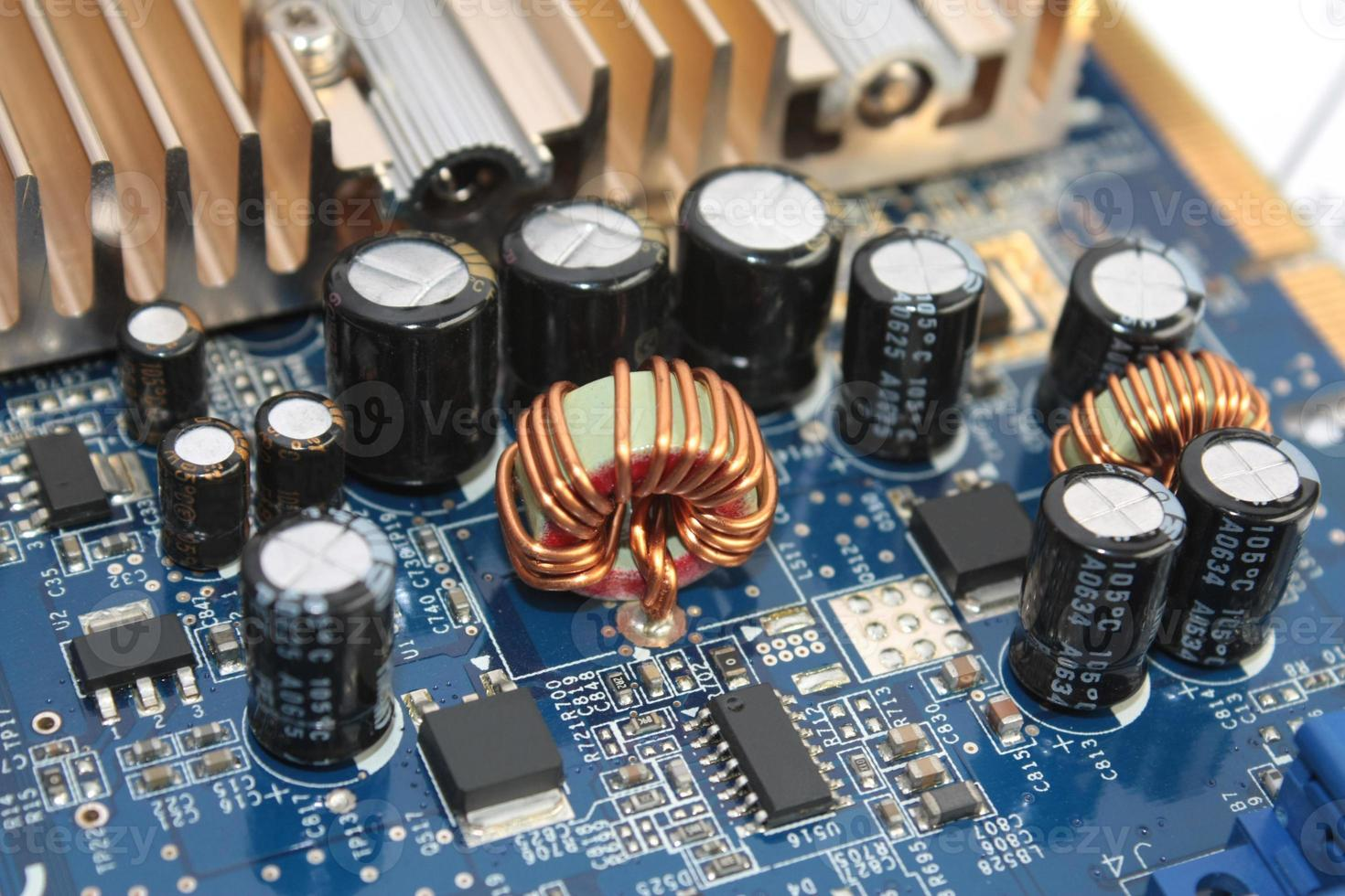 engasgar na placa de circuito foto