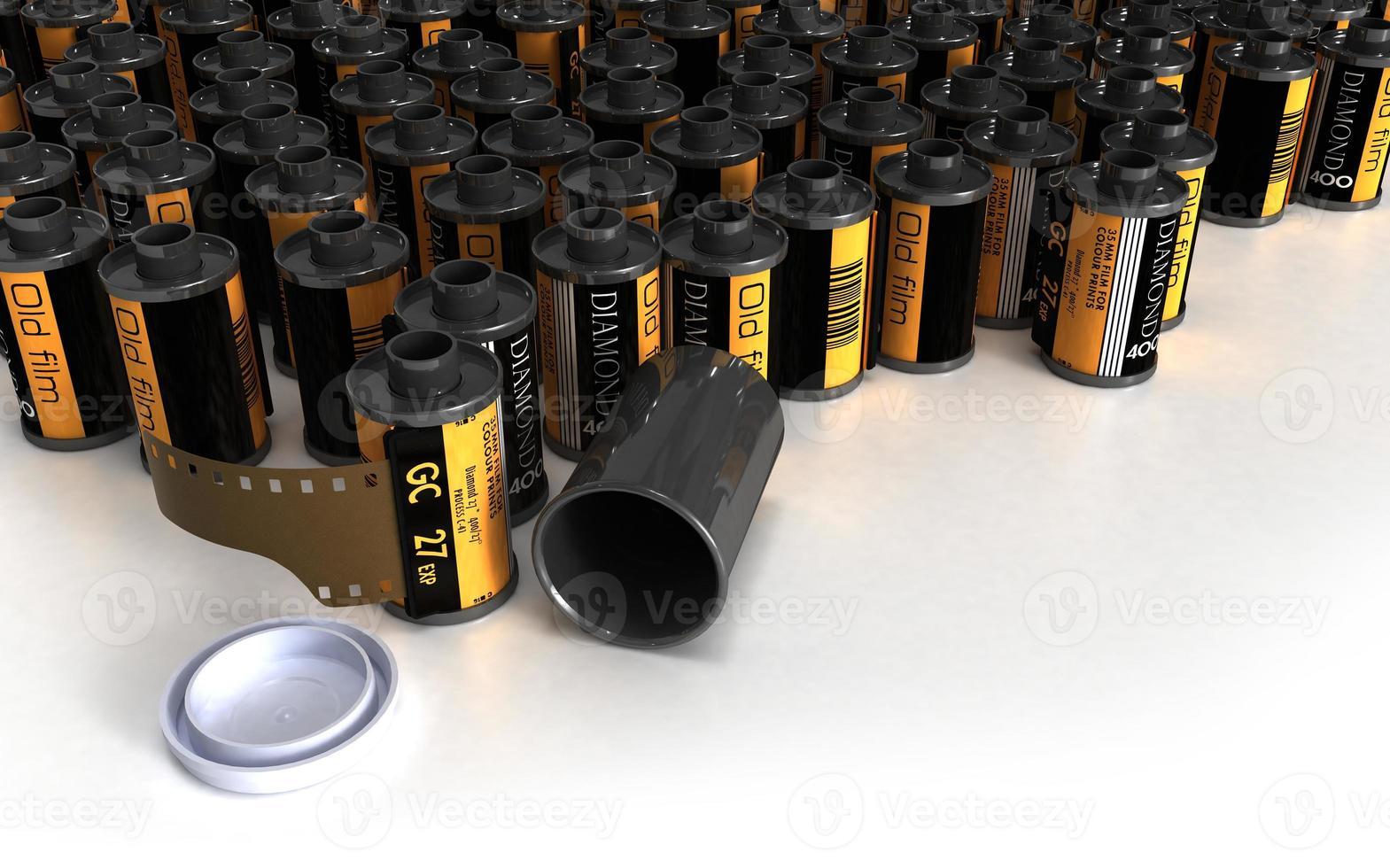 lote de caixas de filme para câmera analógica foto
