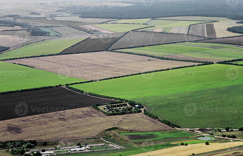 vista aérea da área rural foto