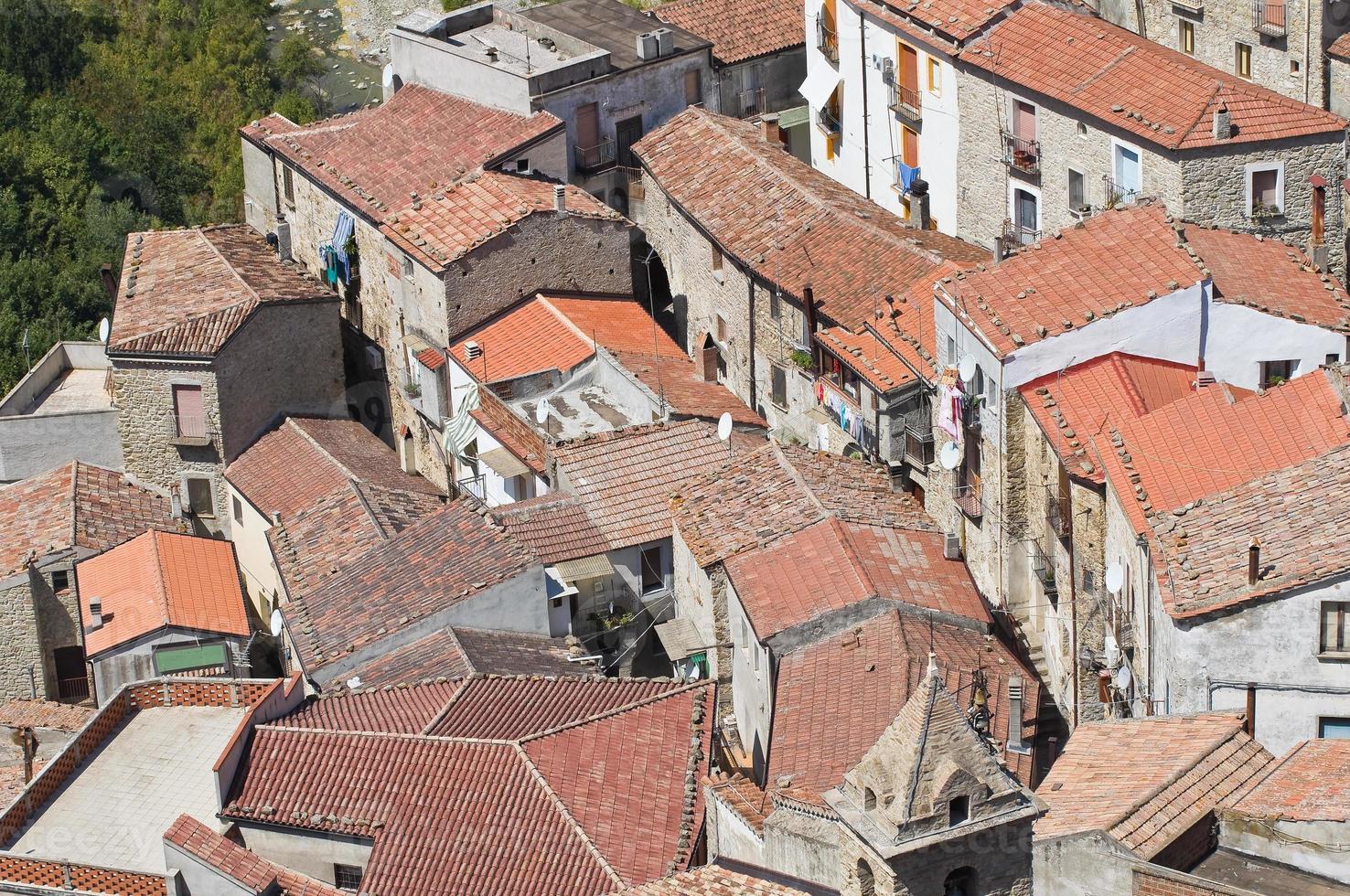 vista panorâmica de valsinni. basilicata. Itália. foto