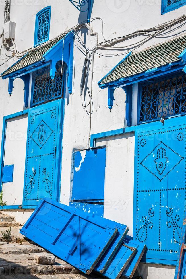 rua na cidade de Sidi Bou disse, Tunísia foto