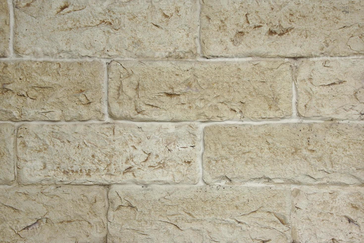 parede de pedra calcária antiga decorativa foto