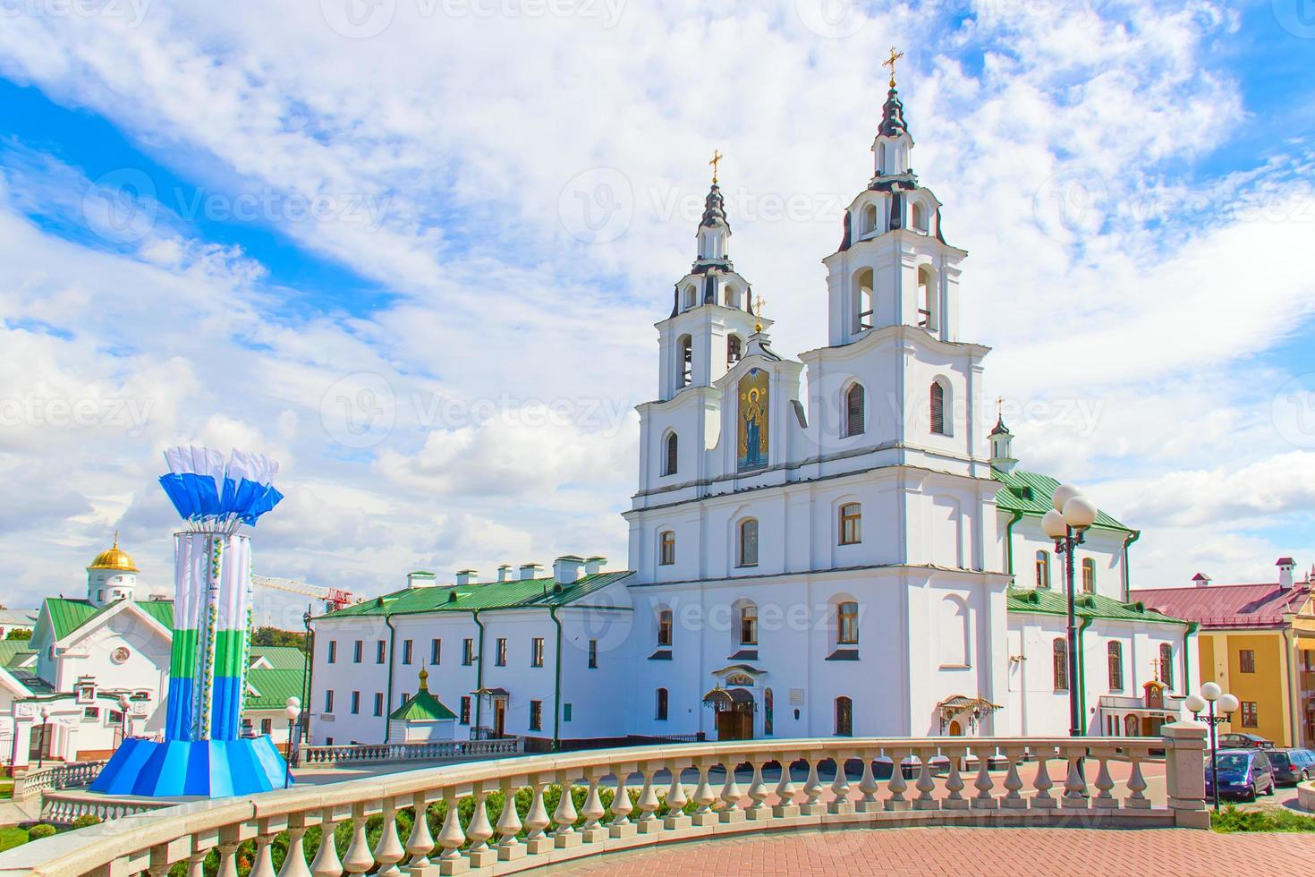 catedral do espírito santo em minsk, bielorrússia. foto