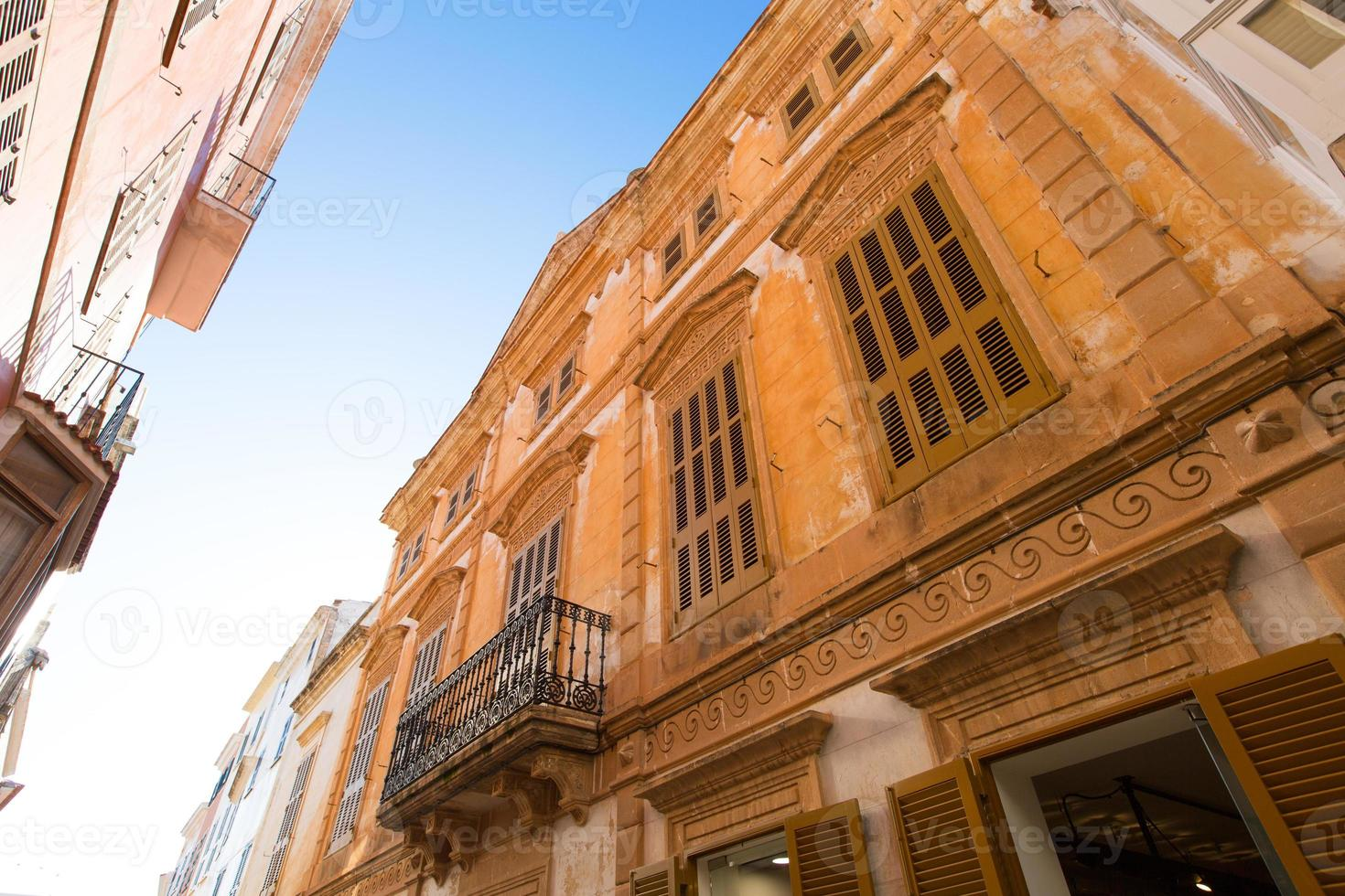 ciutadella menorca no centro da cidade de ciudadela foto