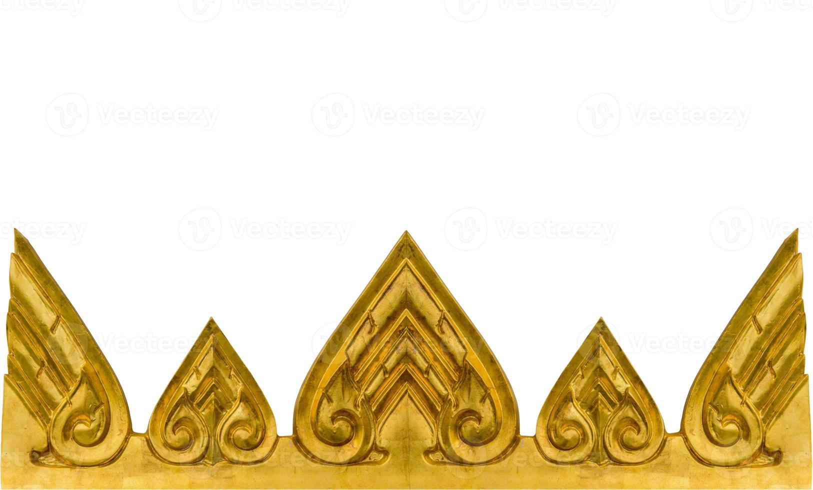 textura de ouro da parede no templo tailandês. foto