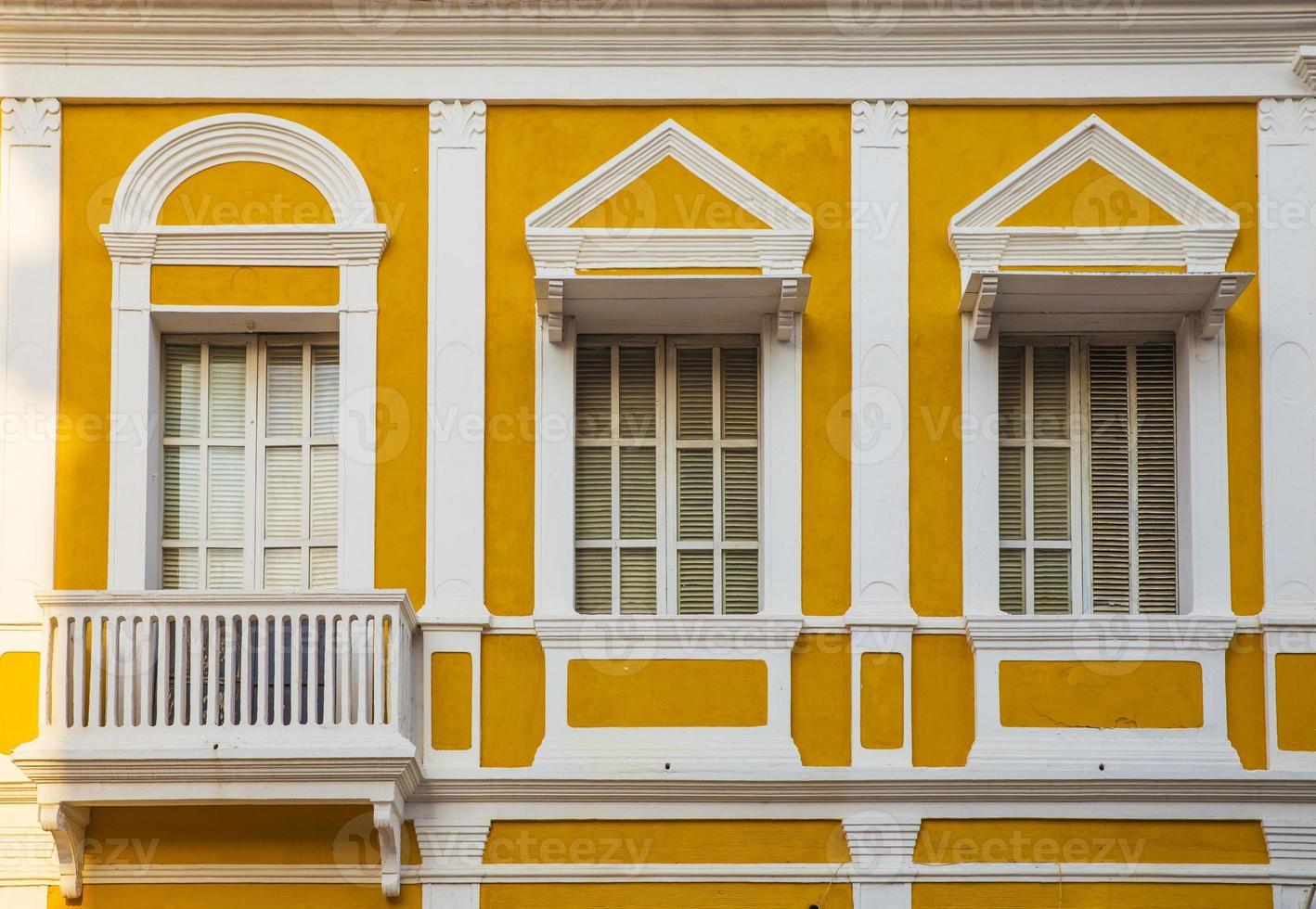 arquitetura da cidade velha, cartagena foto