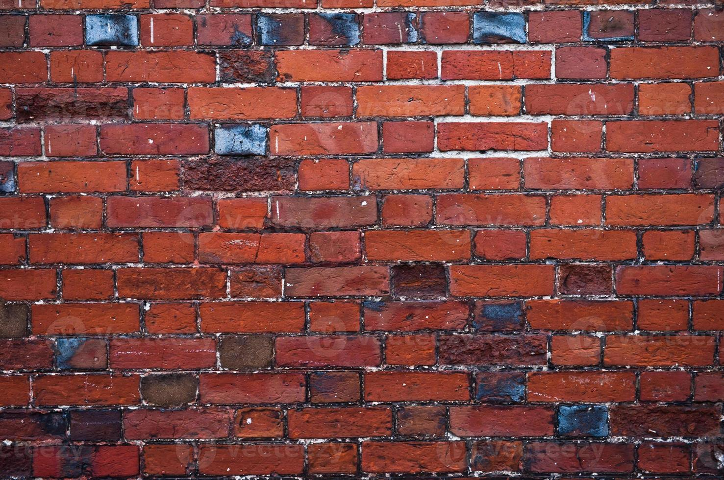 textura de parede de tijolo velha foto