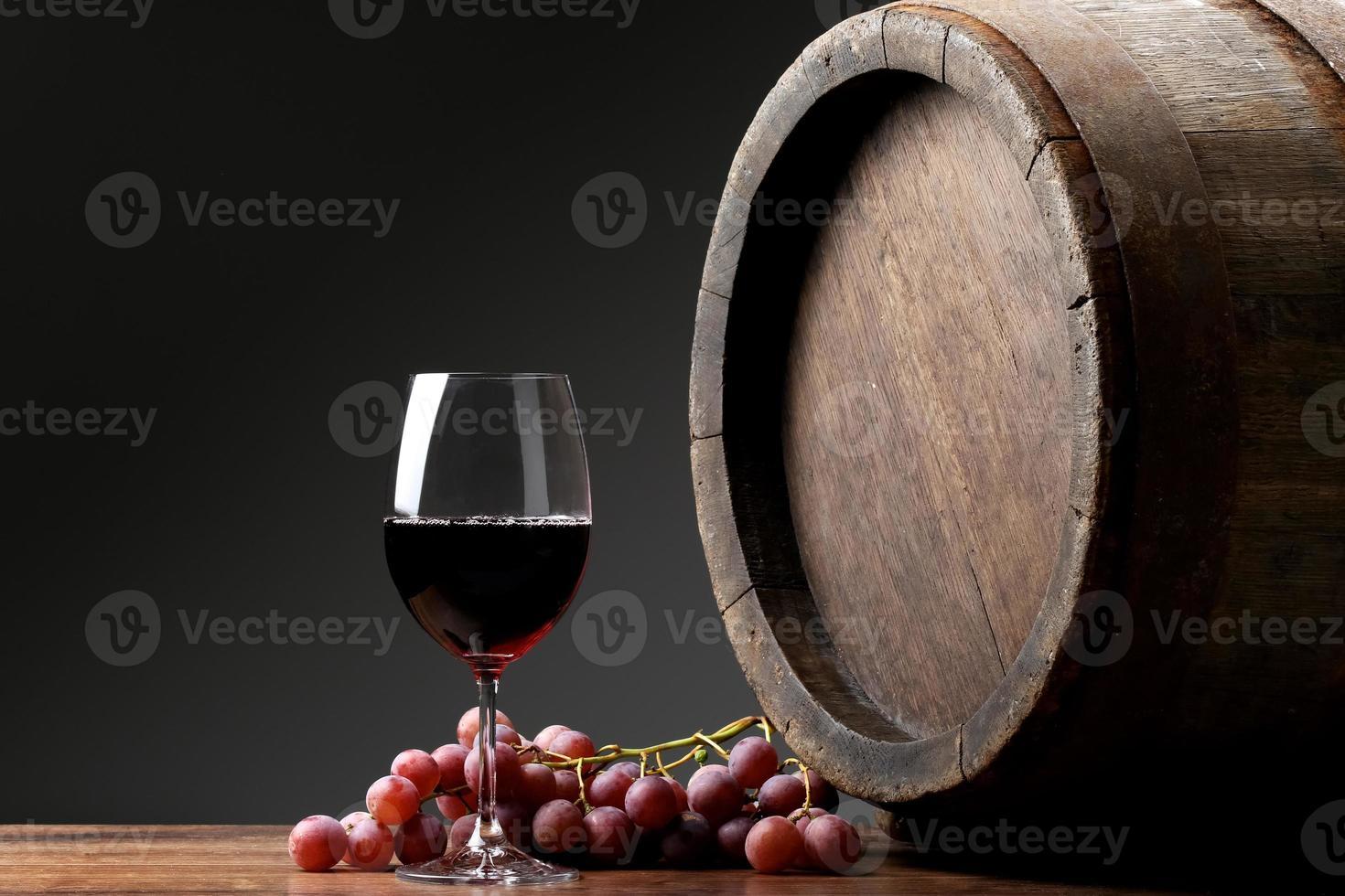 vinho com barril foto