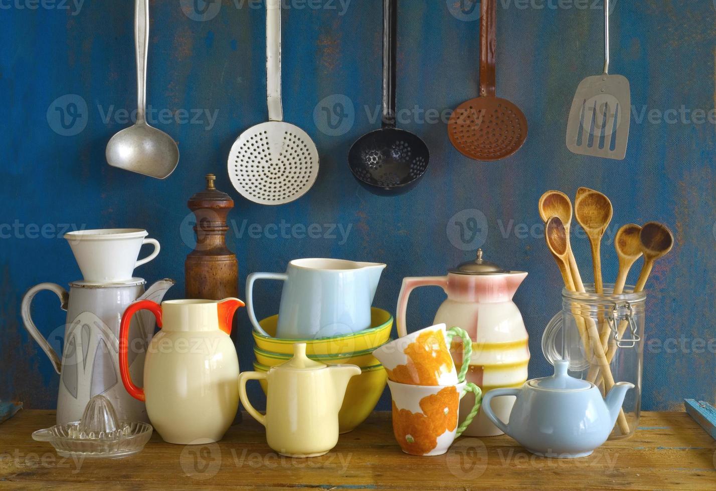 utensílios de cozinha vintage foto
