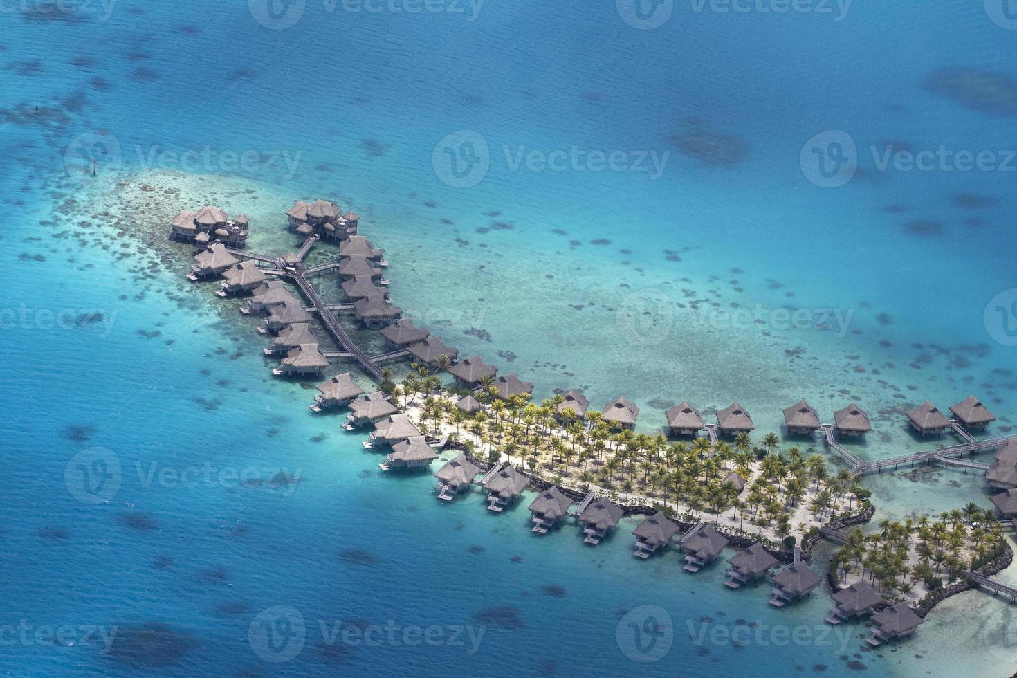 vista aérea da polinésia foto