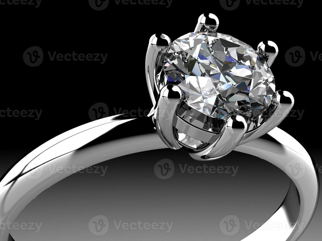 anel de diamantes foto