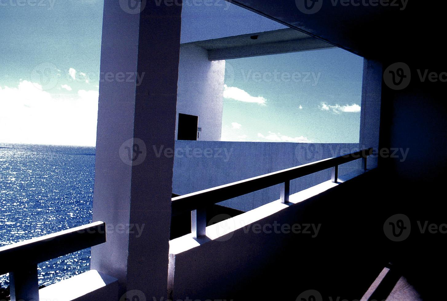 varanda caribenha tarde do dia foto