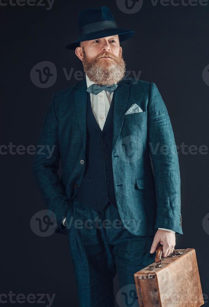 empresário retro elegante foto