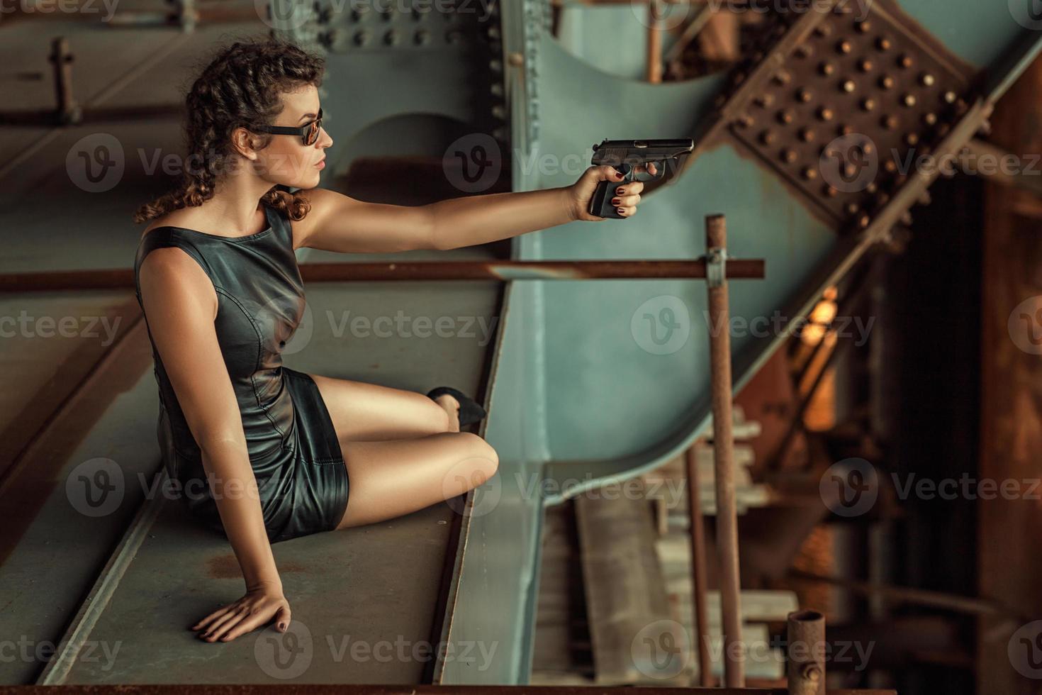 menina com tiros. foto