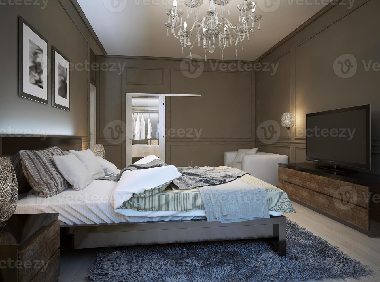 interior do quarto em estilo moderno foto