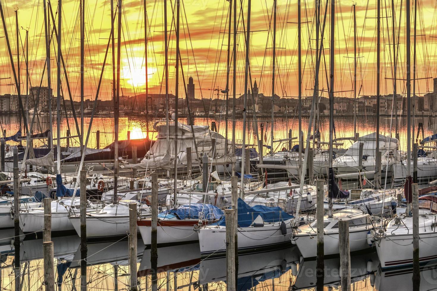 porto di chioggia, venezia italia foto