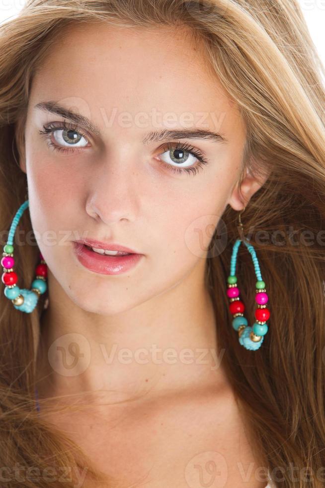 close-up lindo adolescente foto