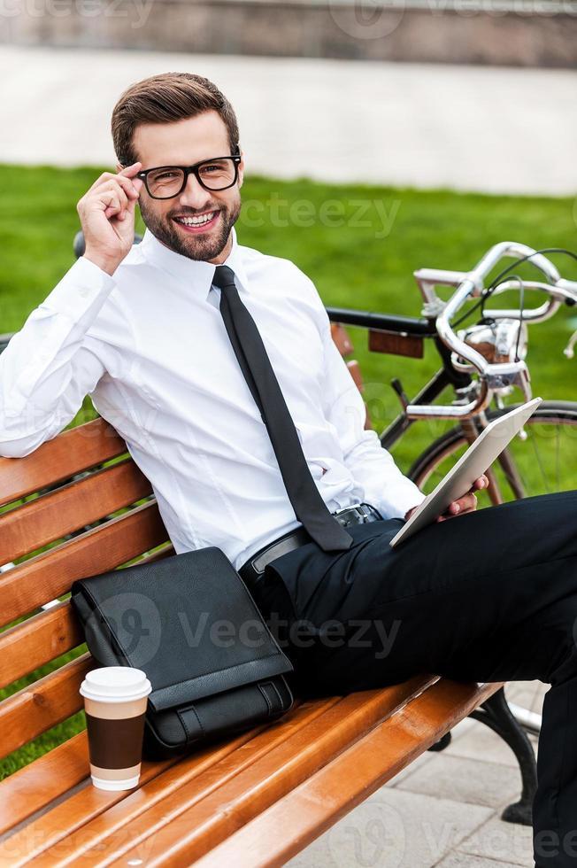 empresário jovem e bem sucedido. foto