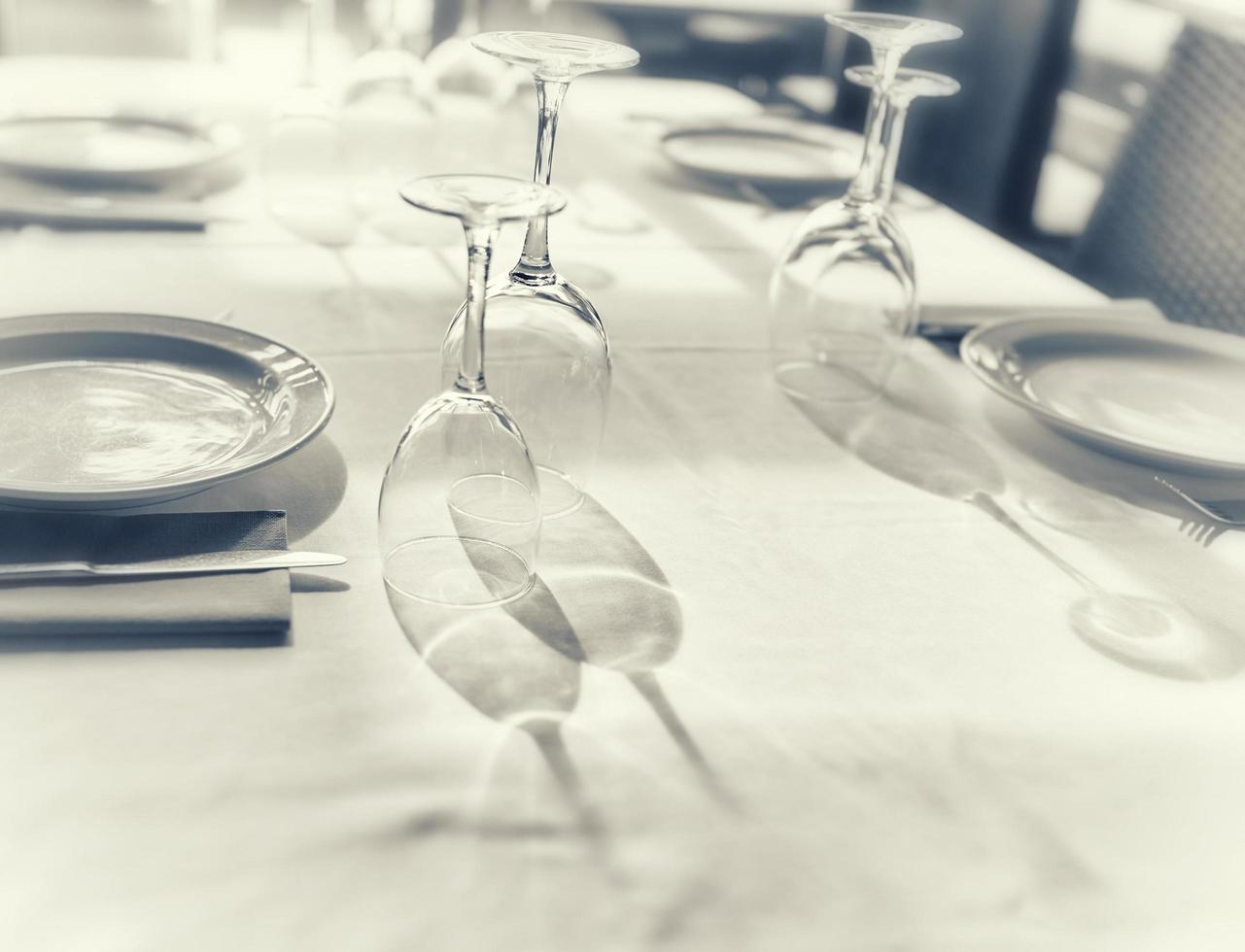 fotografia de jantares finos foto