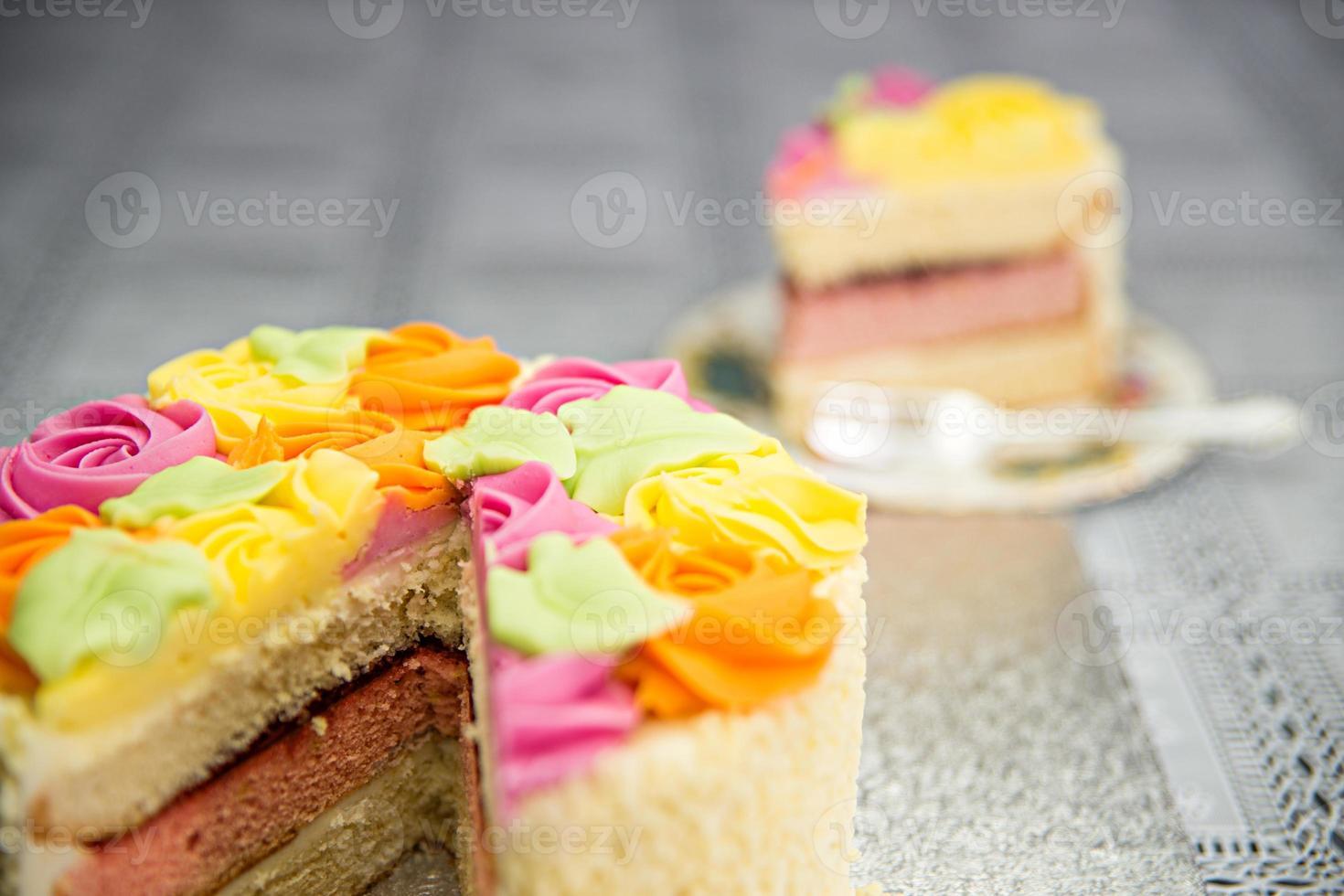 bolo de buquê de rosa foto