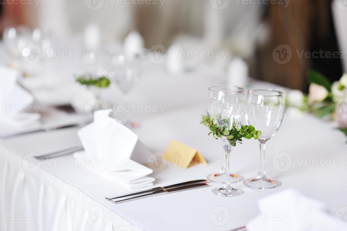 mesa posta para uma festa do evento foto