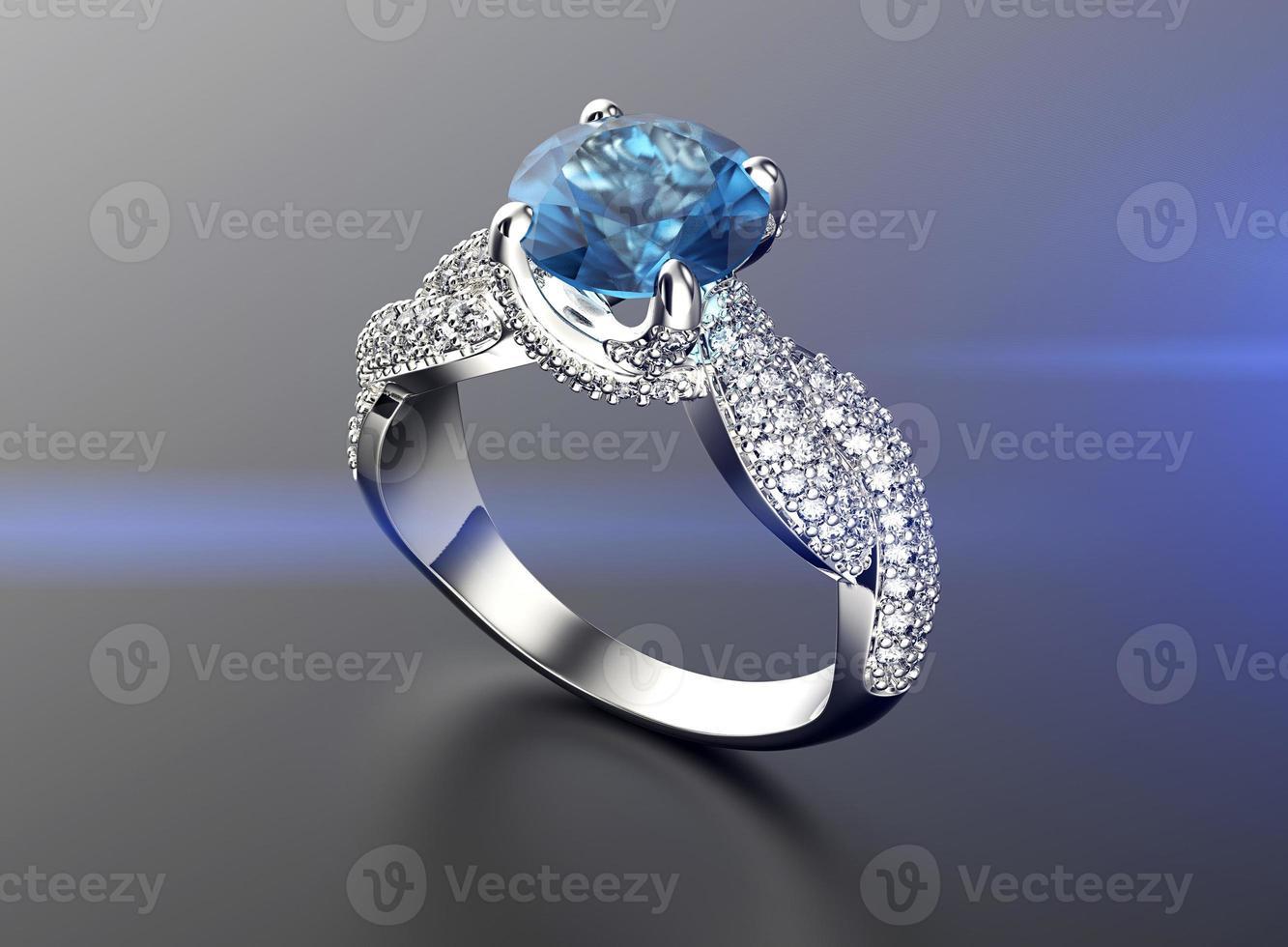 anel de noivado de ouro com diamante ou moissanite. joias backg foto