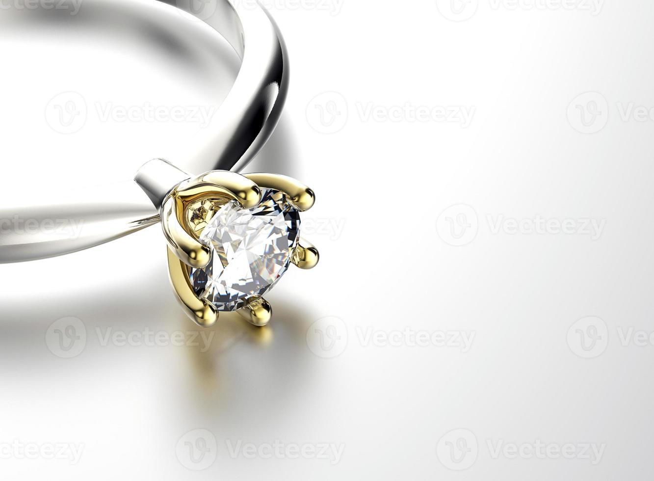 anel de noivado com diamante ou moissanite. fundo de joias foto