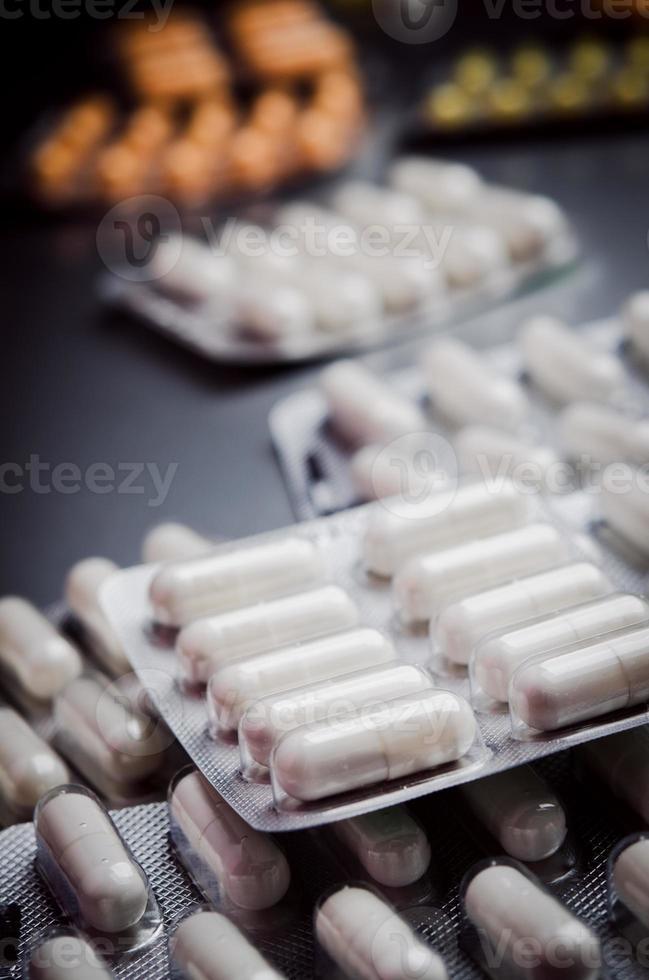 pilha de comprimidos foto
