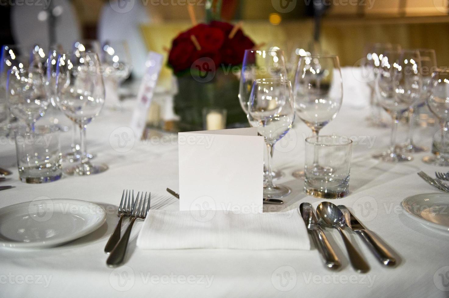 mesa do restaurante foto