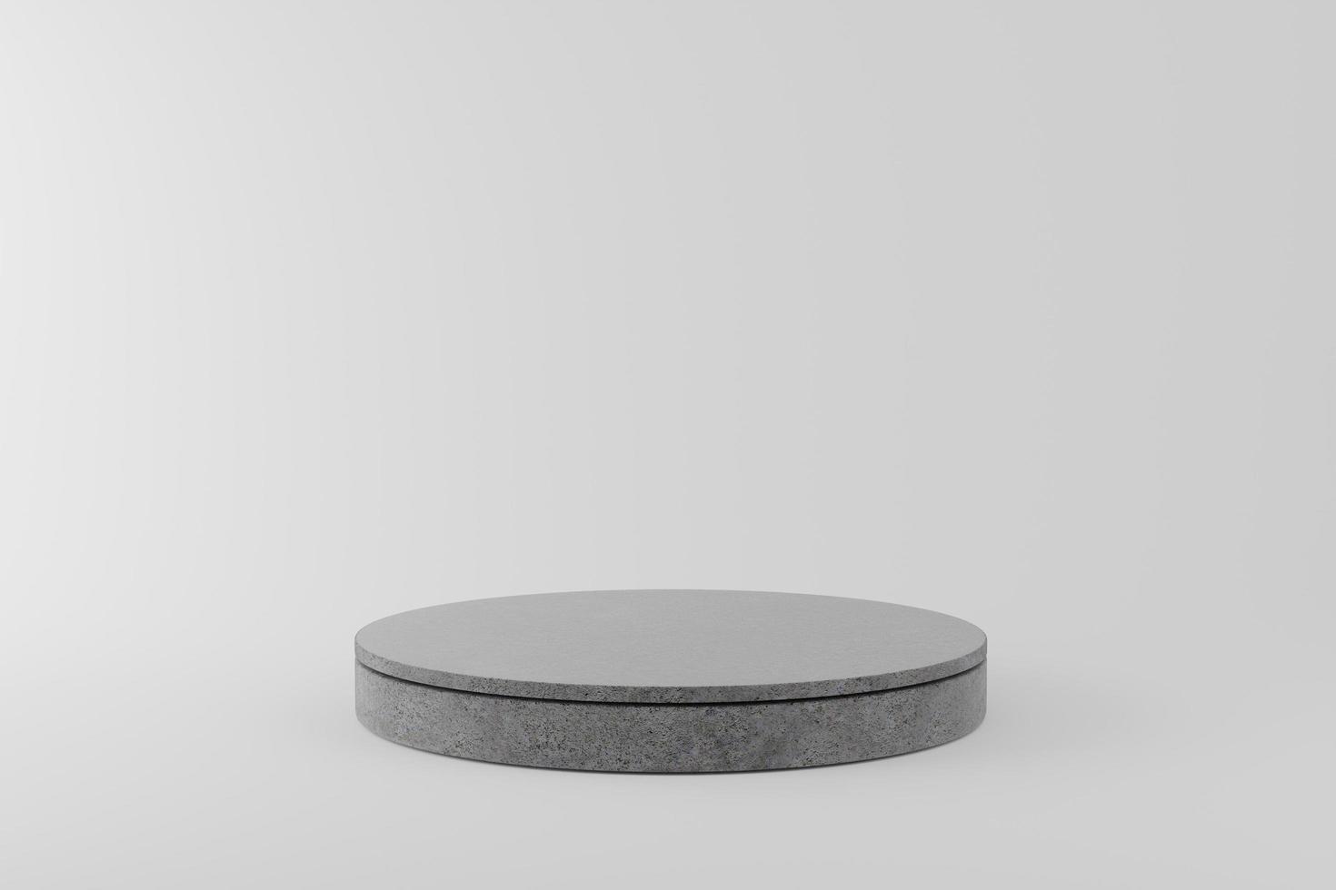 pódio de concreto em fundo cinza foto