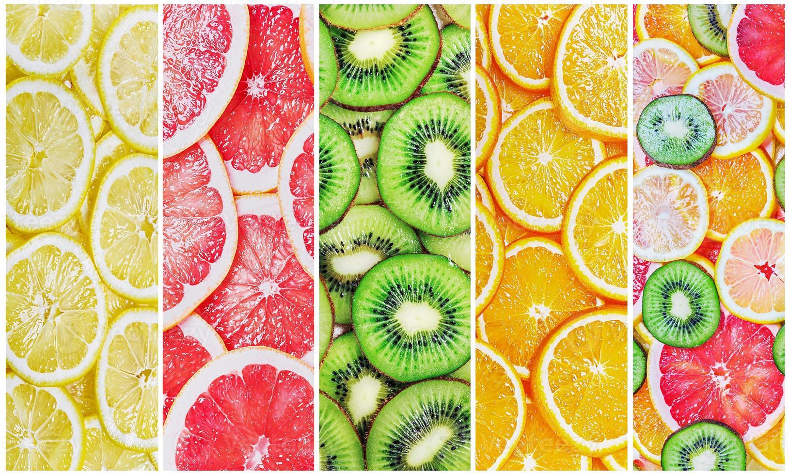fatias de frutas cítricas frescas foto