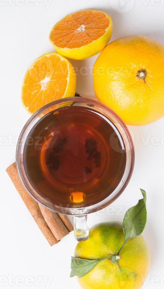 chá com vitamina natural e canela foto