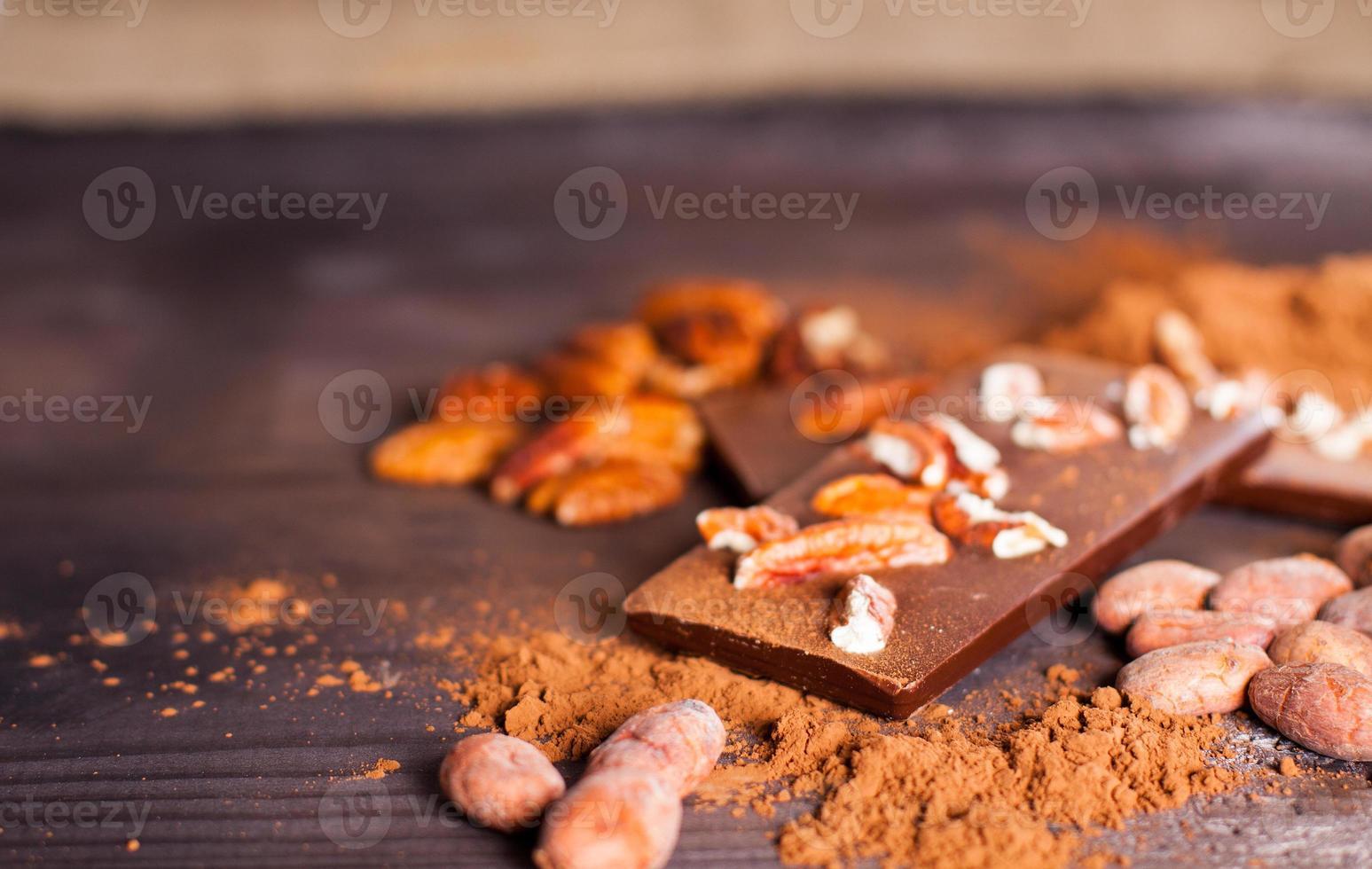 produtos de chocolate. foto