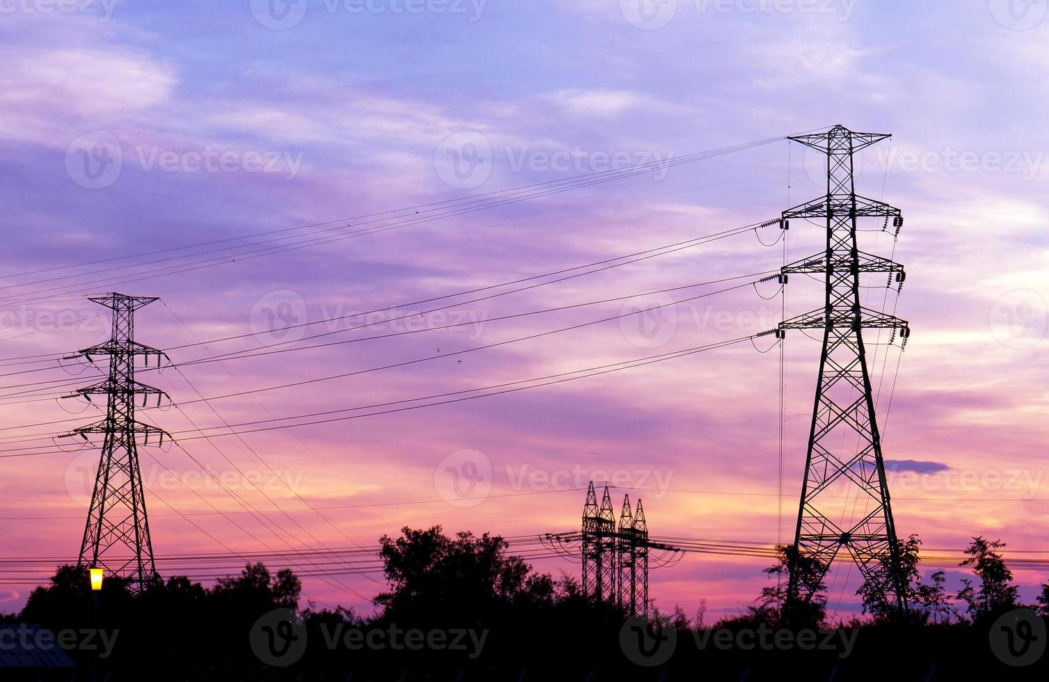 torre de energia elétrica foto