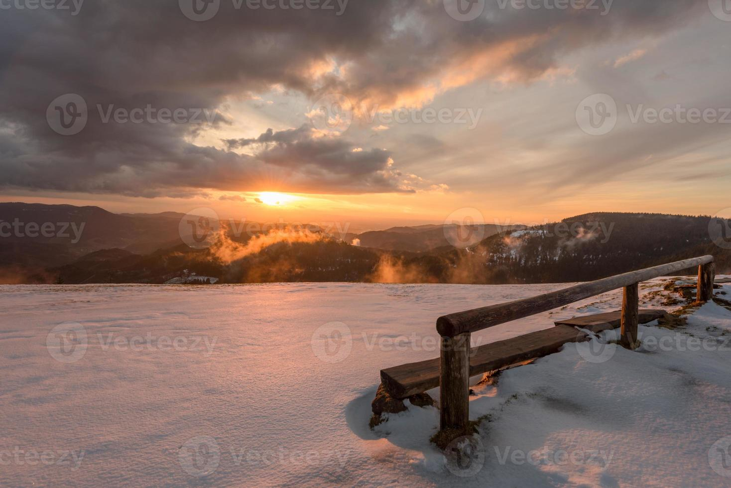 Sonnenuntergang im nationalpark Schwarzwald foto