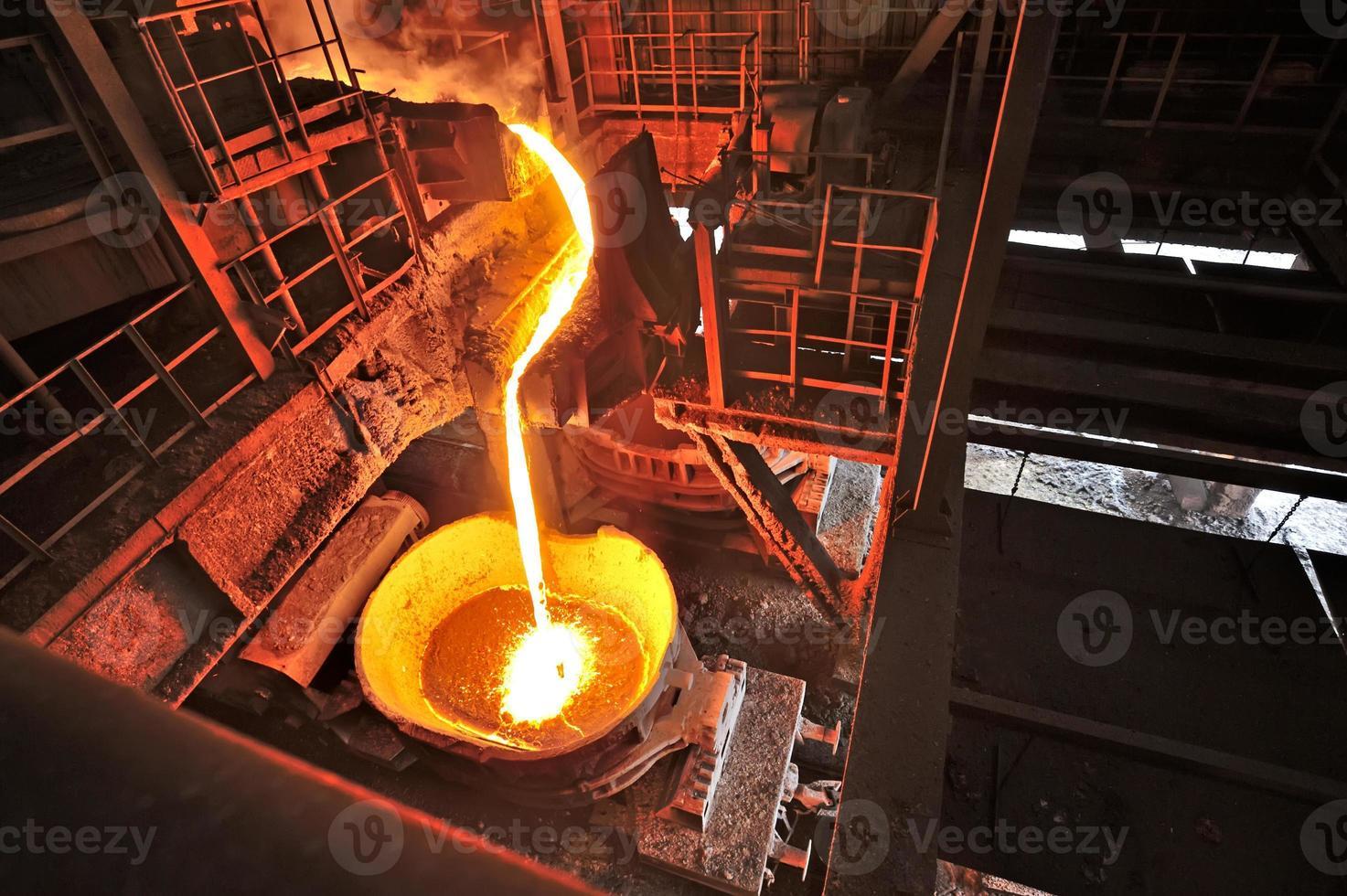 ferro líquido dentro da planta foto