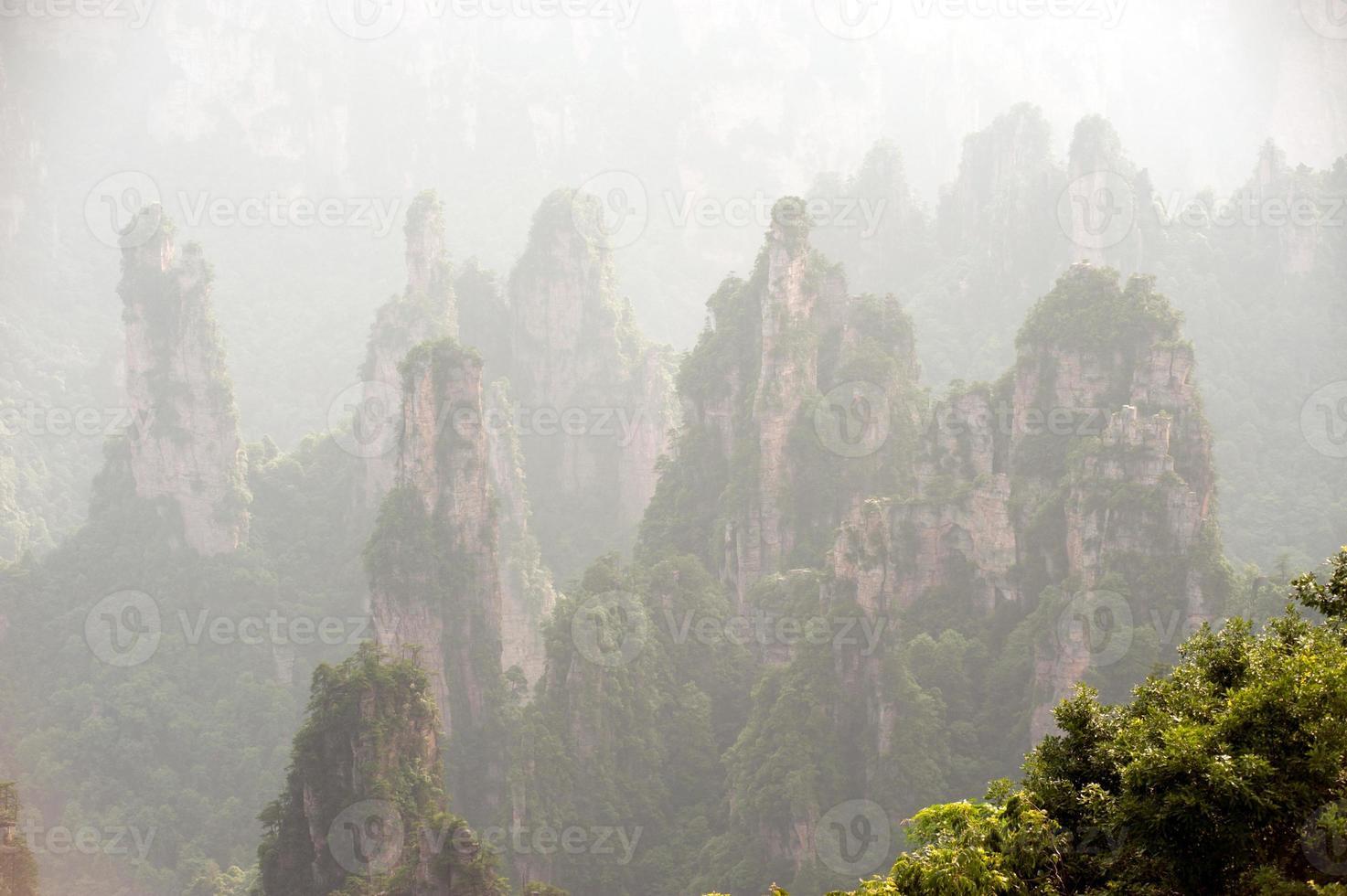 parte da área cênica de wulingyuan da parte da floresta nacional de zhangjiajie. foto