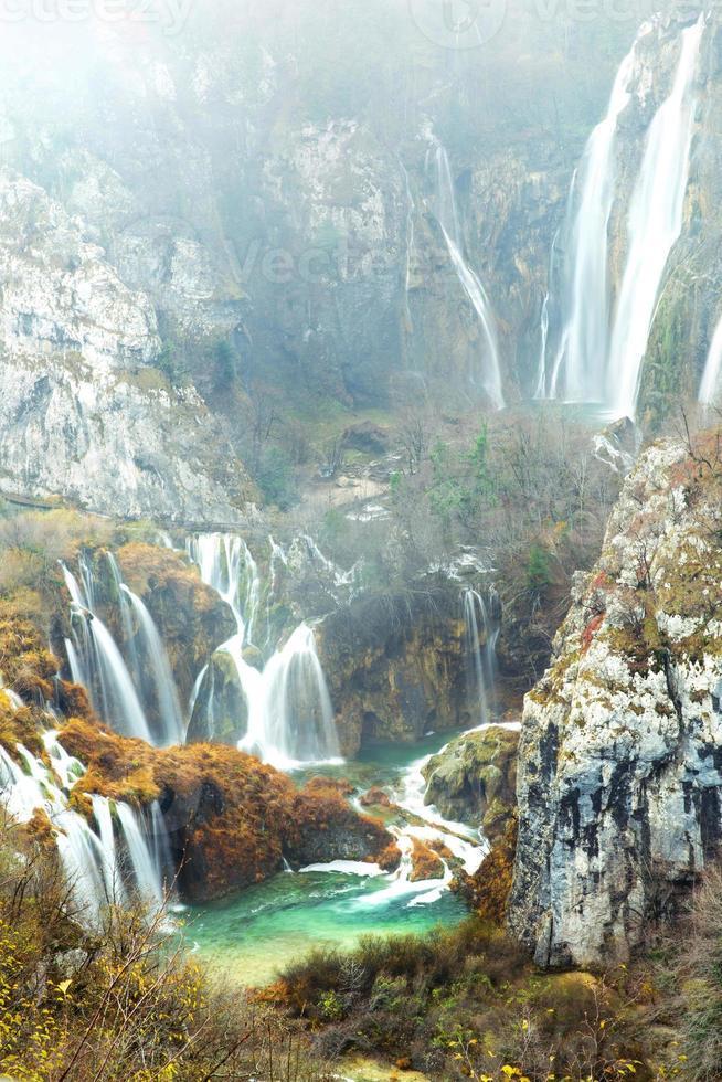 parque nacional dos lagos plitvice foto