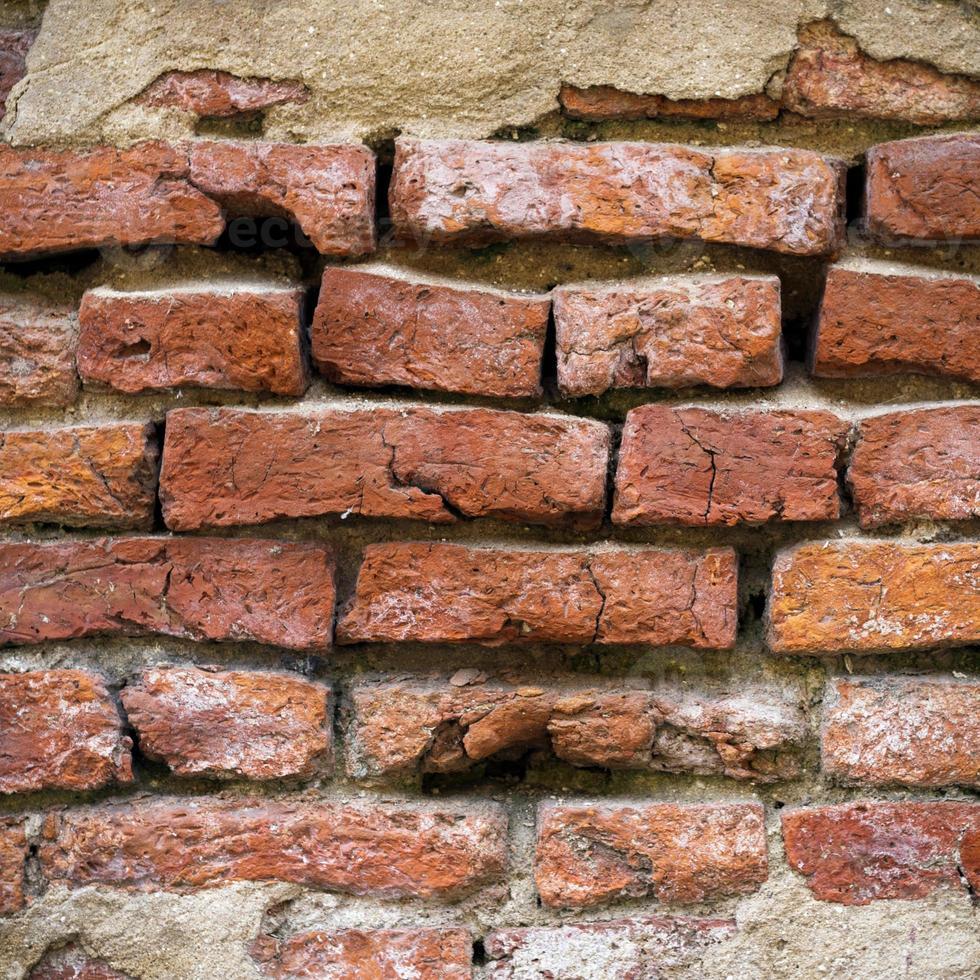 superfície da parede de tijolos foto