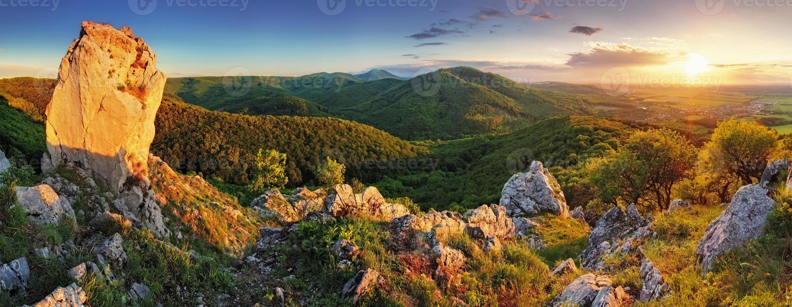 panorama da montanha foto