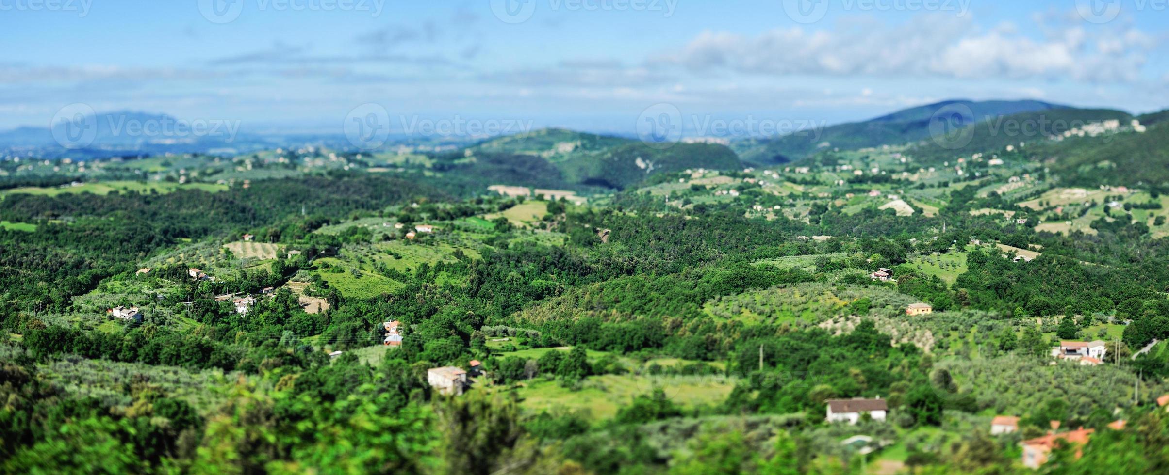 montanha do vale foto