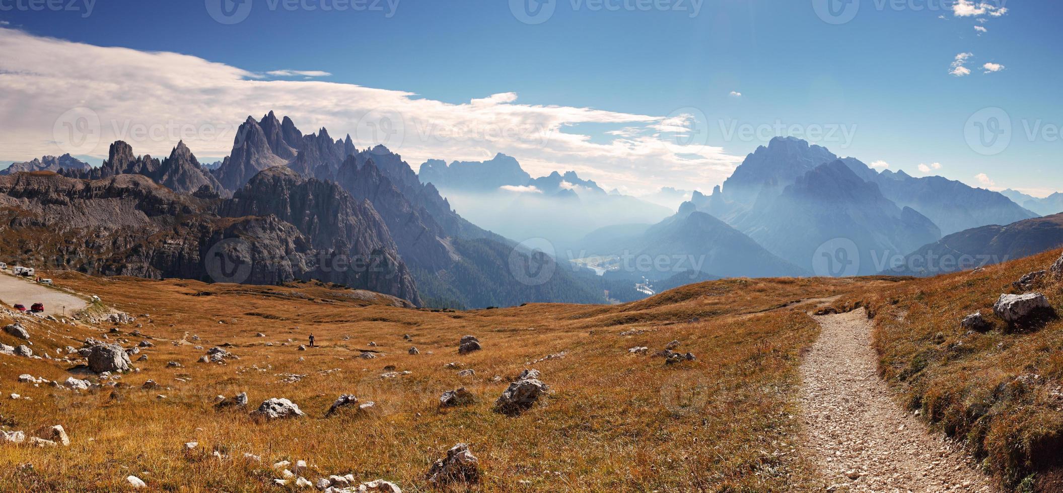 panorama dolomiti da montanha itália foto