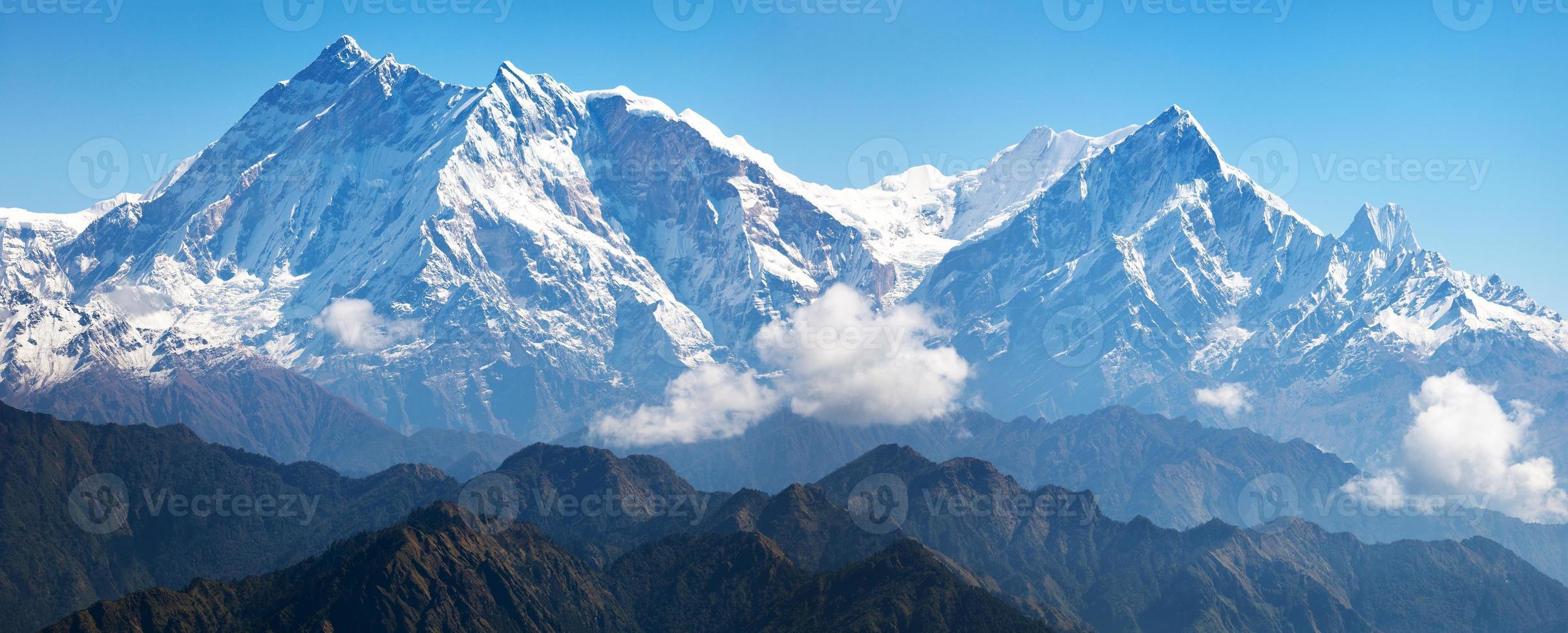 vista de Annapurna Himal de Jaljala Pass foto