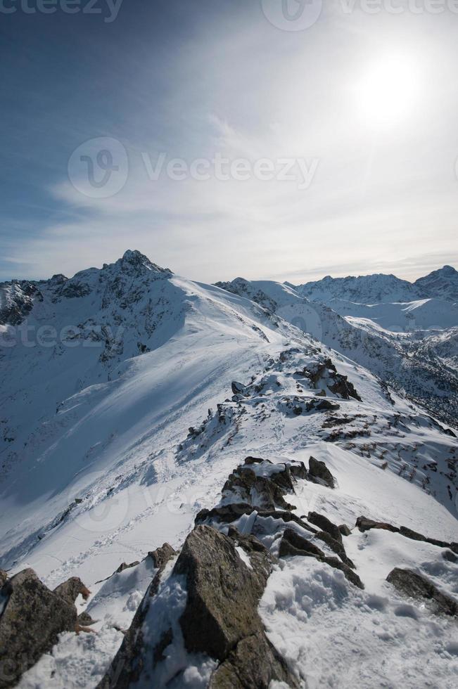 pico wierch kasprowy na montanha tatras foto