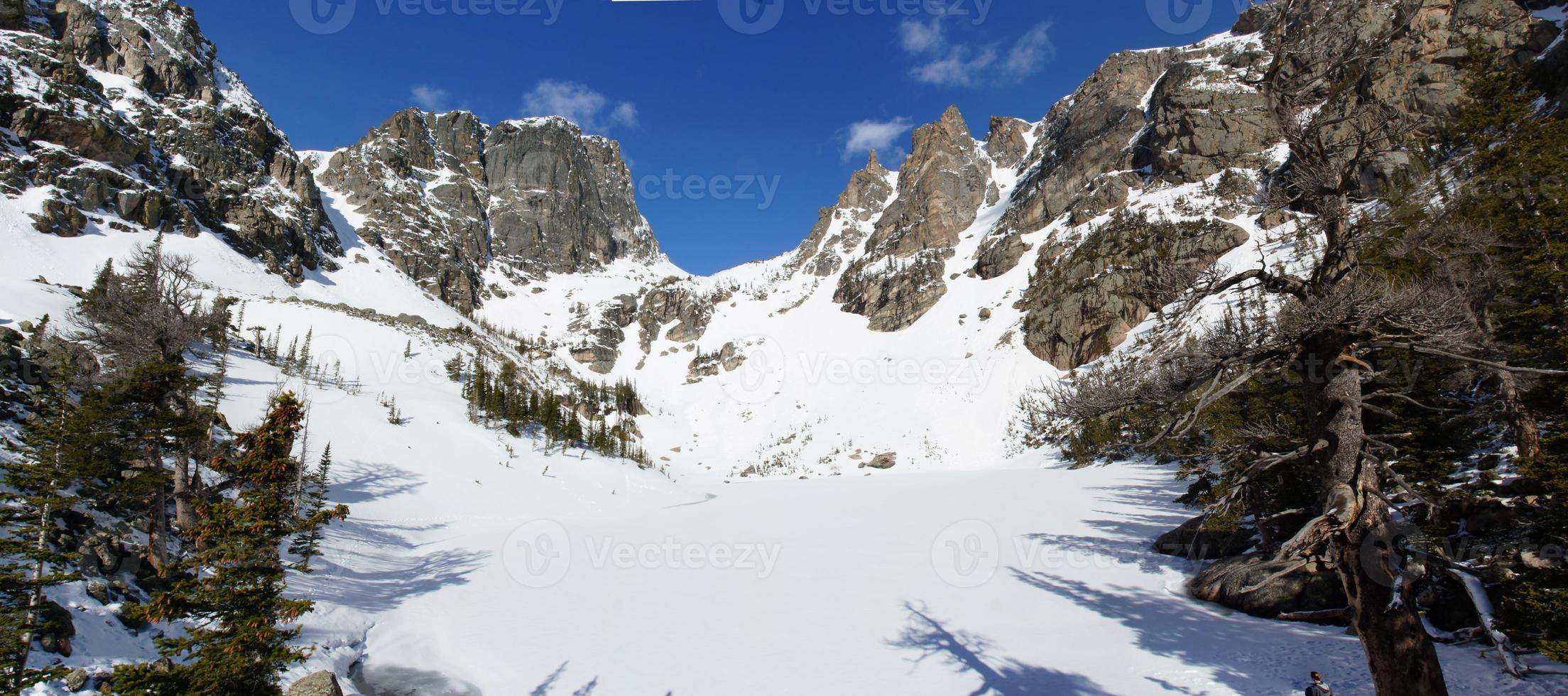 parque nacional de montanha rochosa no norte do Colorado foto