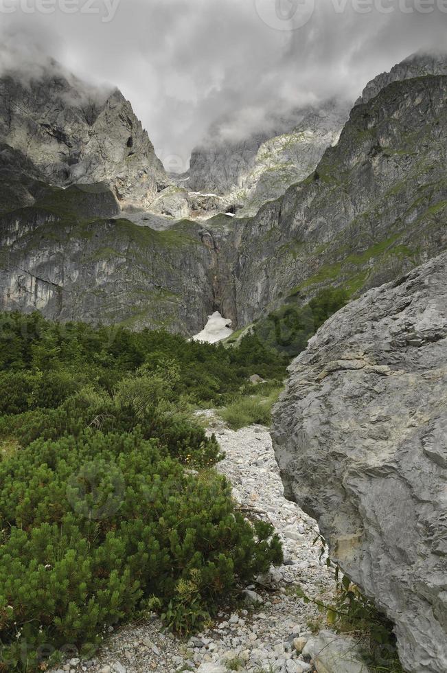 final do vale de Riedingtal, Hochkonig, Salzburg, Áustria foto