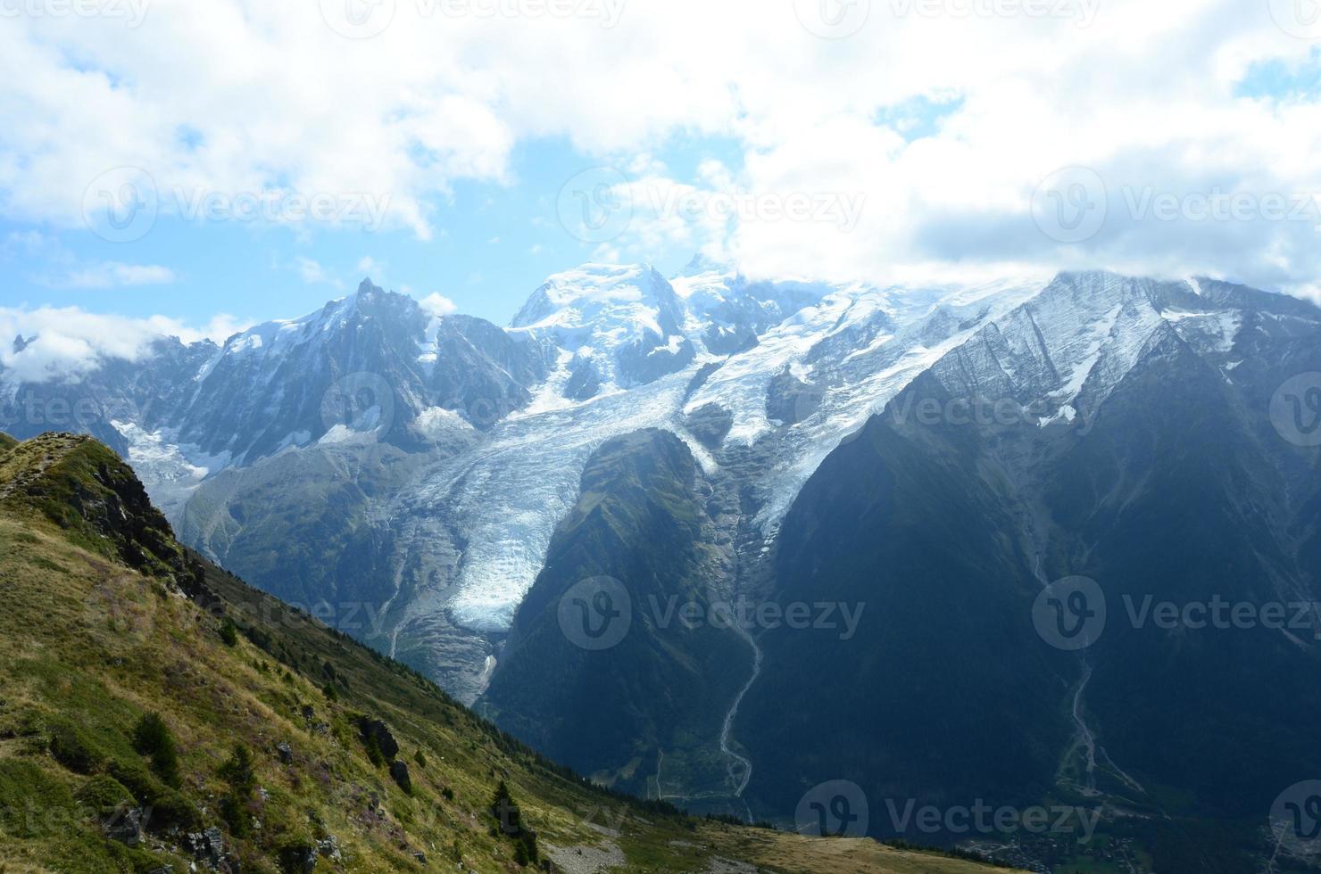 vista do mont blanc foto